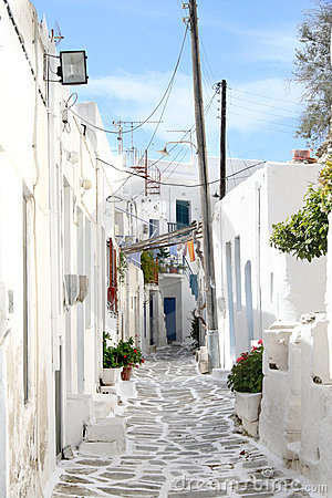 Typical greek island town - Paros Island, Greece