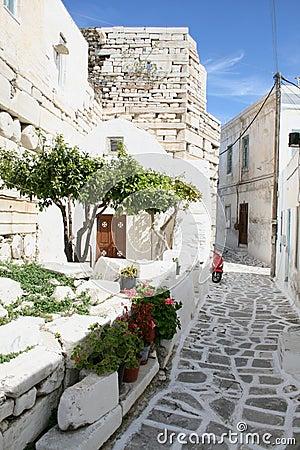 Typical greek island town - Paros Island, Greece