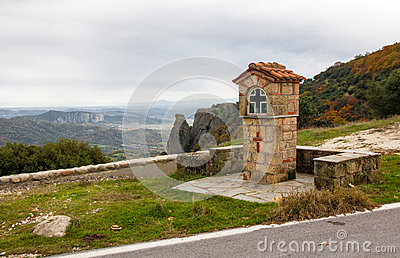 Typical greek small road shrine