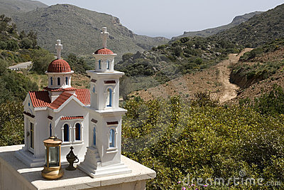 Typical greek small road shrine - Crete
