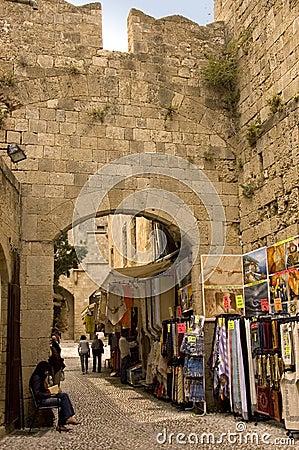 Typical Greek street scene