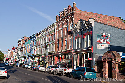 Typical Historical Street Victoria Canada Editorial Stock Photo