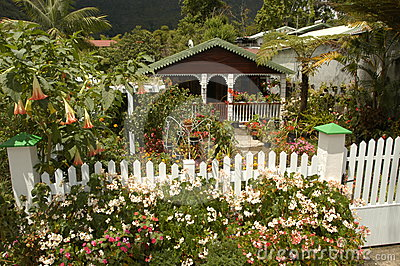 Typical house at Hell Bourg on Reunion island