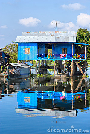 Free Typical House On The Tonle Sap Lake. Cambodia Royalty Free Stock Image - 6026806