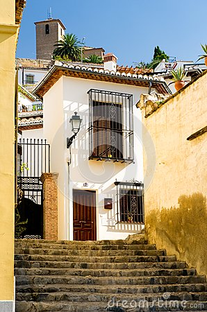 Typical houses in Granada