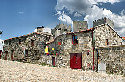 Typical houses of Montalegre, north of Portugal.