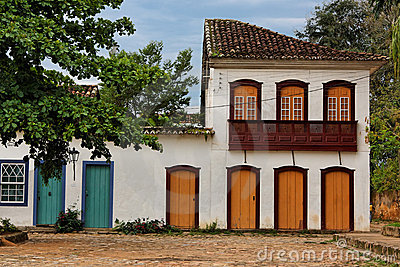 Typical Housing in Paraty Rio de Janeiro Brazil
