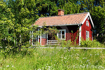 Typical idyllic swedish house.