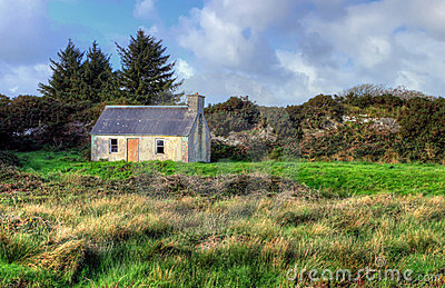 Typical Irish abandoned house.