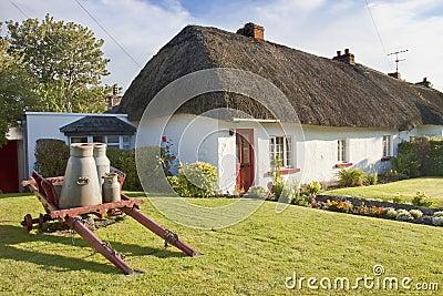 Typical Irish House in Adare - Ireland.