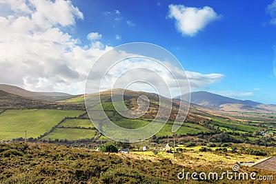 Typical Irish landscape in summer.