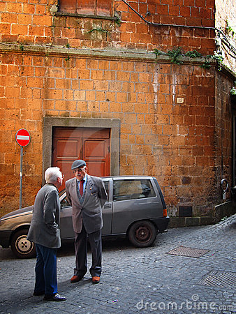 Typical italian street scene Editorial Stock Image