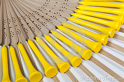 Typical Japanese hand fan made Stock Photo