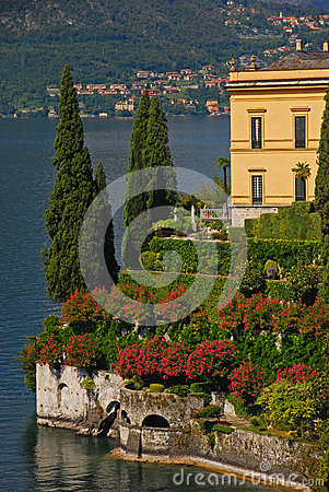 Typical Lakeside Mansion in Varenna Lake Como