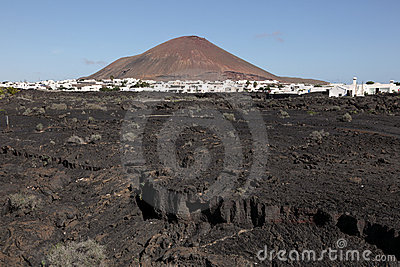 Typical Lanzarote landscape