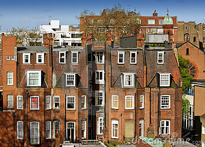 A typical London red-brick building.