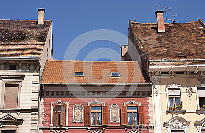 Typical medieval housing architecture