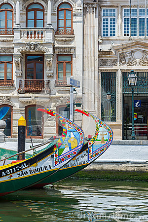 Free Typical Moliceiro Boat Of Aveiro. Portugal. Stock Image - 73904131