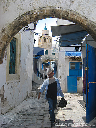 A street in the souk. Bizerte. Tunisia Editorial Photography