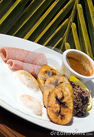 Typical nicaragua breakfast