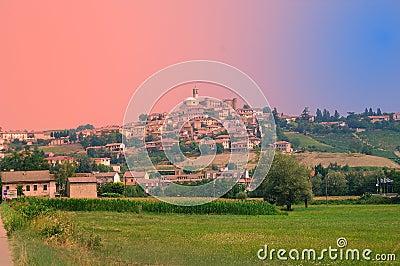 Typical Northern Italian Village