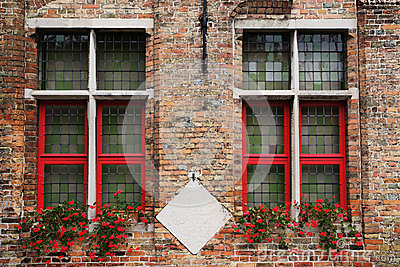 Typical old Flemish Window