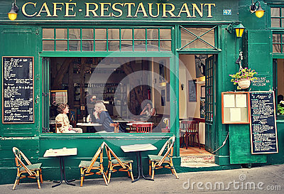 Typical parisian cafe editorial photography image 36637482 for Open terrace restaurants