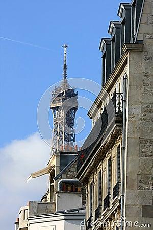 Typical Parisian Haussman-style building