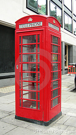 Typical phone booth in London