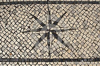 Typical Portuguese Cobblestone Pavement Windrose D