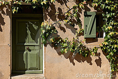 Typical Provence house facade