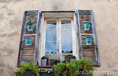 Typical Provence window in Saint Tropez
