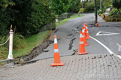 Typical road damage Editorial Photo