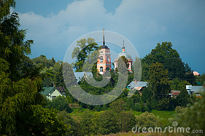 Typical Russian village landscape