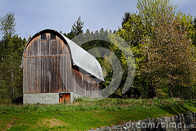 Typical Rustic Old Round Roofed Barn