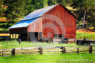 Typical Rustic Old Working Barn