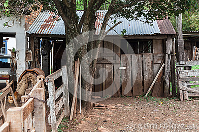 Typical Rustic Wood House