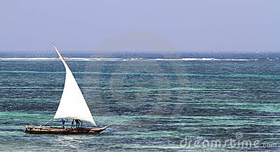 Typical sailing boat in kenya