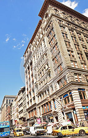 Free Typical Sight Of New York Building With Very Busy Traffic Royalty Free Stock Photo - 44855645