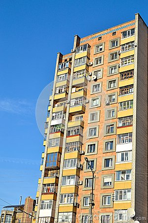 Free Typical Soviet Union Apartment Block Royalty Free Stock Photography - 29492167
