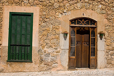 Typical Spanish house exterior