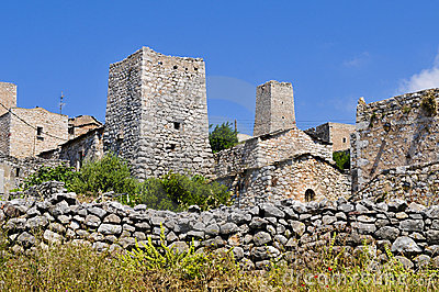 Typical stone tower-houses in mani