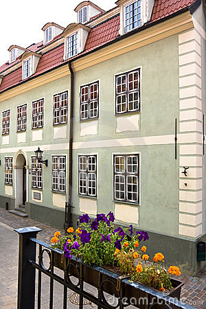 Typical street in the Riga