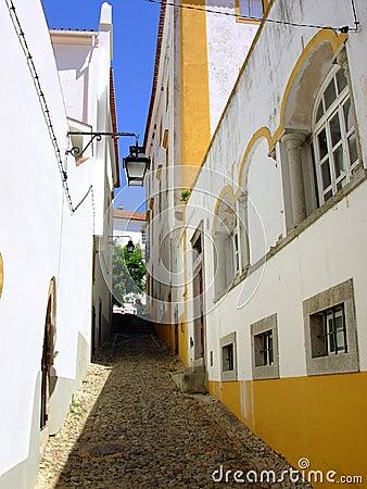 Typical street of Évora v