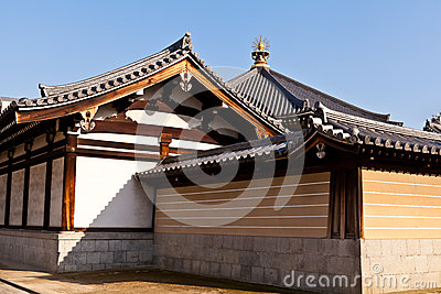 Structure of Japanese temple