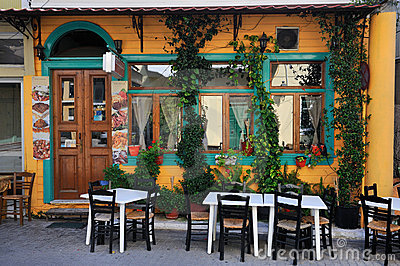 Typical Tavern in Greece