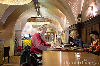 Restaurant in Prague Editorial Stock Image
