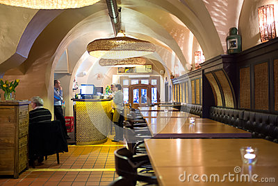Restaurant in Prague Editorial Photo