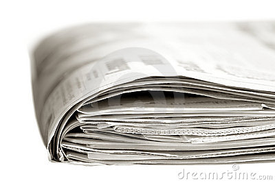 Typical Thick Sunday Edition American Newspaper