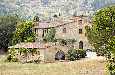 Typical tuscan house
